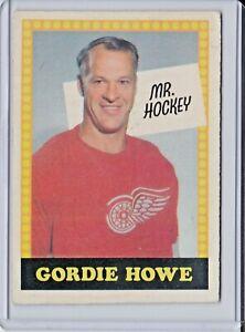 1969-70 O-PEE-CHEE OPC GORDIE HOWE MR HOCKEY - NO NUMBER ERROR - RED WINGS - HOF