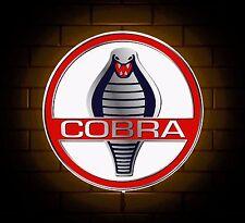 COBRA BADGE SIGN LED LIGHT BOX MAN CAVE GARAGE WORKSHOP GAMES ROOM BOY GIFT