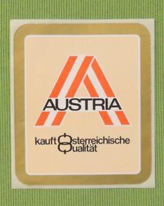 Sticker-Klebebild-Aufkleber-AUSTRIA-kauft-Osterreichische-Qualitaet-OSTERREICH