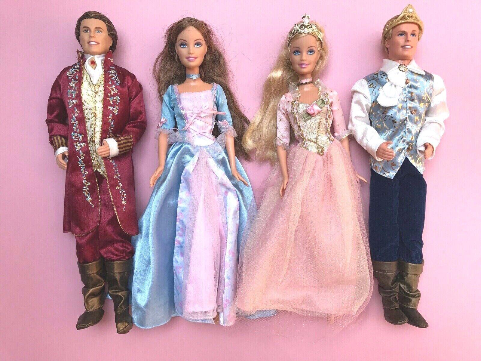 Muñeca Barbie Erika Kritsaralam rey Dominick Julian princesa y el Pauper Lote 4