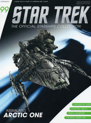 Mailed from USA #99 Star Trek Assimilated Arctic 1 Eaglemoss Metal Ship from UK