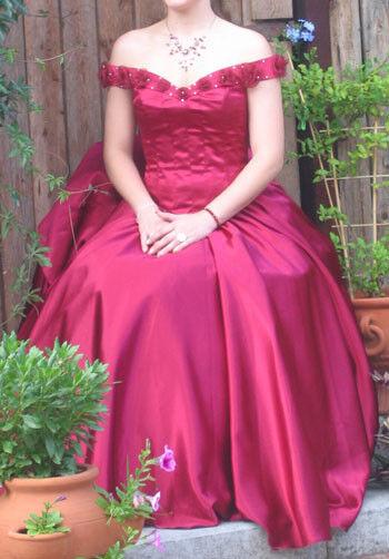Damenkleid, Ballkleid, Abendkleid, Prinzessinnenkleid dunkelrot