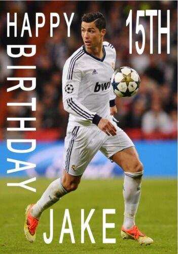 Personalised Ronaldo Birthday Cake Topper A4 Icing Sheet anyNAMEage