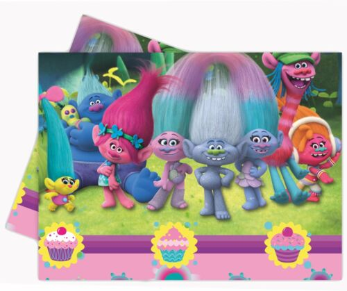 Troll Trolls Movie Birthday Party Tableware Napkins Plates Cups Tablecover