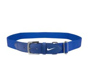 Nike Baseball Belt Adult Unisex Adjustable Game Royal/White