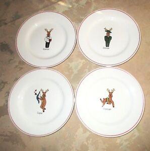 Rainbow Mountain Santa S Reindeer Salad Dessert Plates Set
