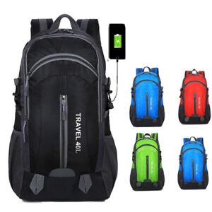 Unisex Outdoor Waterproof Foldable Backpack Hiking Camping Rucksack Sports Bags