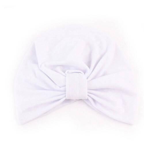 Baby Toddler Girls Kids Turban Knotted Bow Hat Cap Headband Hair Band Headwear