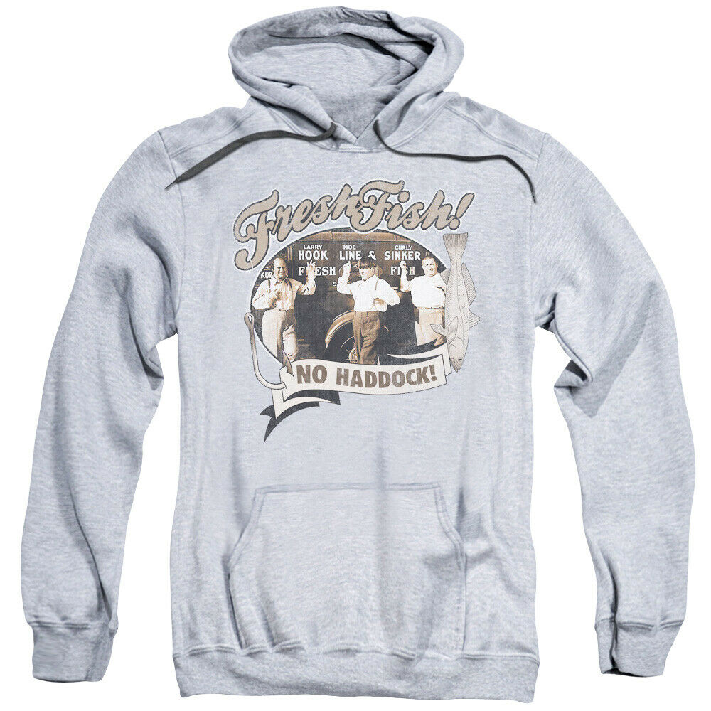 Three Stooges Hoodie Fresh Fish Heather Hoody