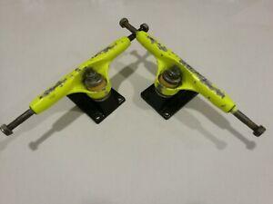 2-x-Vintage-Variflex-Yellow-Skateboard-trucks-EJES-SKATE-MONOPATIN