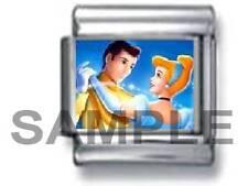 CINDERELLA & PRINCE CHARMING 9MM ITALIAN CHARM LINK princess disney fairy tale
