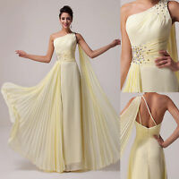 GK UNIQUE! SEXY One Shoulder Beaded Evening Party Pageant Cocktail Wedding Dress