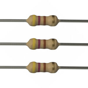 25 x 470 Ohm Carbon Film Resistors - 1/4 Watt - 5% - 470R - Fast USA Shipping