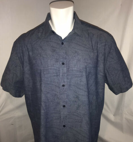Untuckit Mens XXXL Hawaiian Casual Shirt Blue Flor