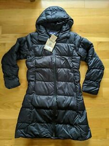Patagonia Downtown Long Womens S M L Down Puffer Black