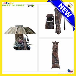 RARE-Canopy-For-TREE-STAND-UMBRELLA-Hunting-Camo-Shelter-Treestand-57-034-Mount
