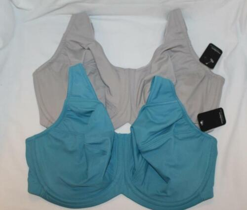 Modern Movement~Bra~underwire~Full Figure~Microfiber~72bm053~Gray~Colonial Blue