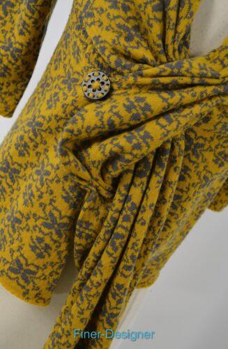 S 100 lana Taglia Nuovo maglione Falena 168 leggero Cardigan Floreale Anthropologie qHIwagxt8