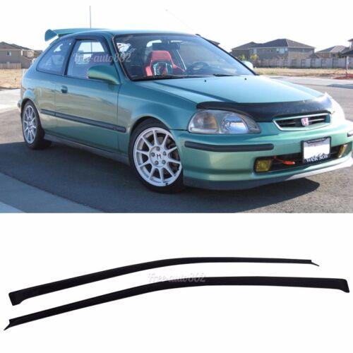 Fits 96-00 Honda Civic SLIM Type Window Visors 2Pc
