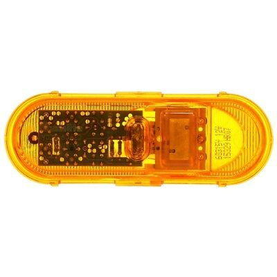 Peterson V180A Piranha Amber LED Oval Clearance//Side Marker Light with Reflex