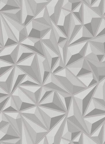 Grey White Triangle 3 D Effect Geometric Wallpaper Paste The Wall  Erismann