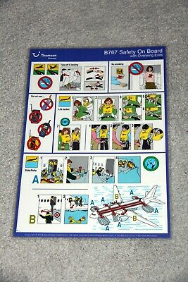 BOEING 767 SAFETY CARD FIRST CHOICE AIRWAYS OPERATED BY THOMSONFLY