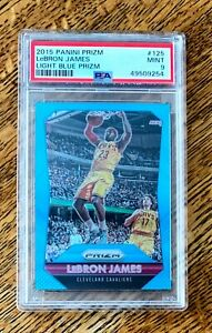 2015-16-Panini-Prizm-Light-Blue-Prizm-125-LeBron-James-Lakers-039-d-101-199-PSA-9