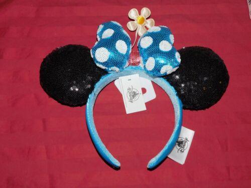 Disney Parks 2020 Classic Minnie Ears Headband Daisy Hat Bow Flower Sequined NEW