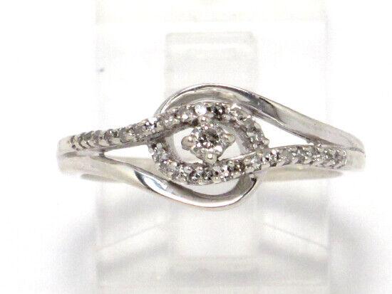 14k White gold Round Diamond Engagement Ring .49ct