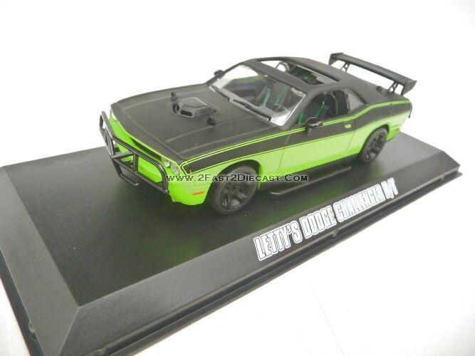 Feu Vert 1 43 Dodge Challenger SRT-8 2014 Noir Lime Fast & Furious 7 GL86230