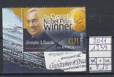 Cipro / Cyprus 2011 Nobel a Christopher Pissarides 1239 MNH