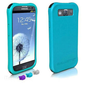 Ballistic-Samsung-Galaxy-S-3-III-Life-Smooth-TPU-Case-LS0950-M075-Teal-cover-NEW