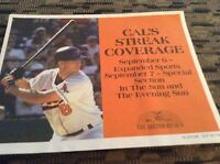 Baltimore Sun News Paper Box Advertisement Signs of  Cal Ripken Jr Coverage