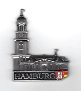 Aimant Hambourg Michel église pinwand nouveau réfrigérateur magnétique métal souvenir port  </span>