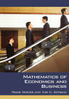 Mathematics of Economics and Business by Yuri N. Sotskov, Frank R. Werner (Paperback, 2006)