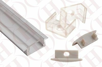Flush Mount Aluminum LED Strip Fixture Channel Frosted and Clear DIY Lights USA