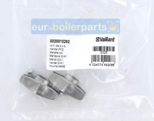 Pack de 2 0020010292 New Vaillant Ecotec Plus 824 831 837 Robinet de service Poignée