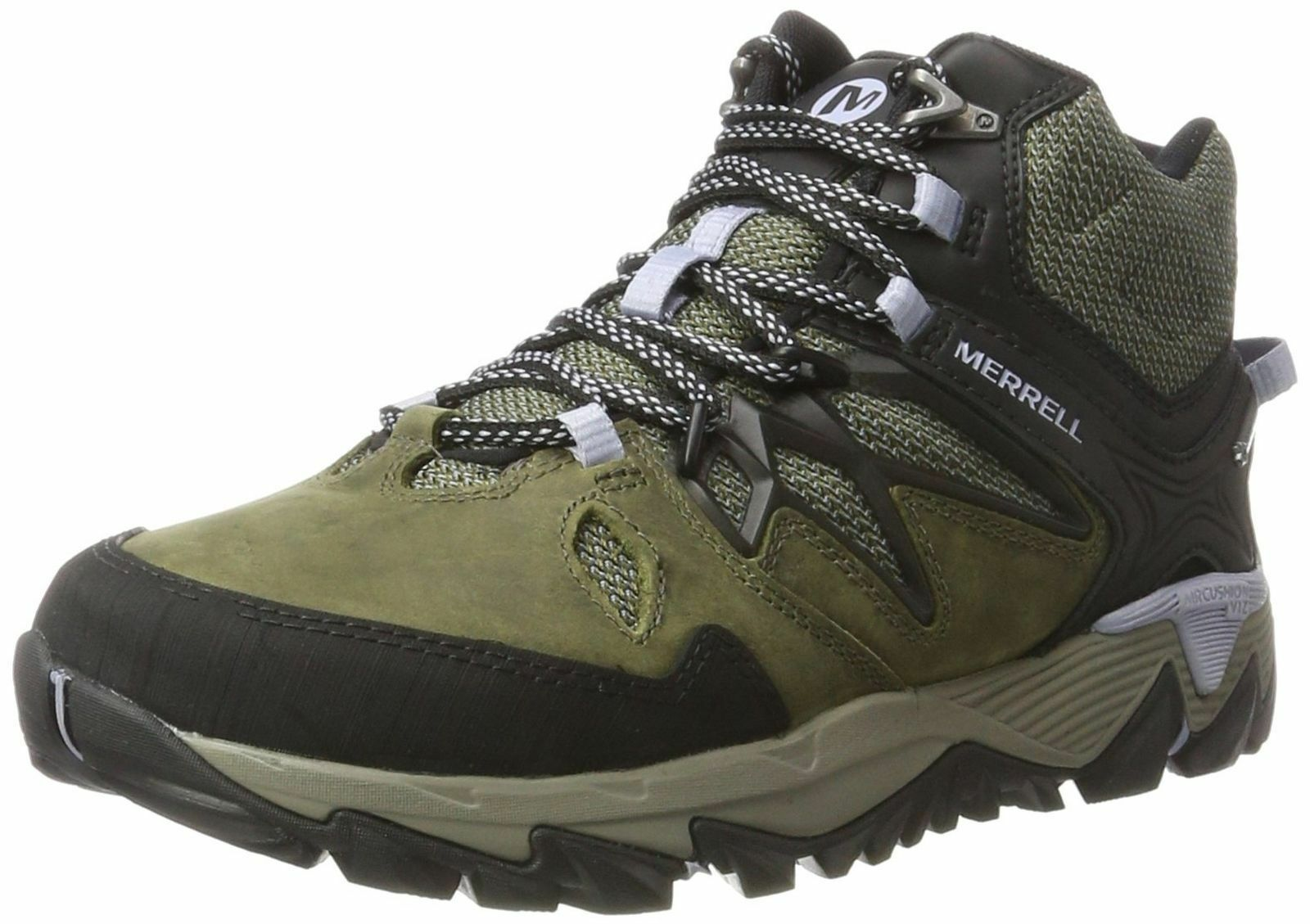 Ladies Dark Olive Lace Up Merrell Walking boots All Out Blaze 2 Mid gtx