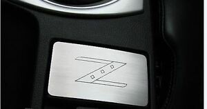Nissan-Fairlady-350Z-Z33-V6-alu-cover-for-ashtray-with-Z-engraving-alluminio