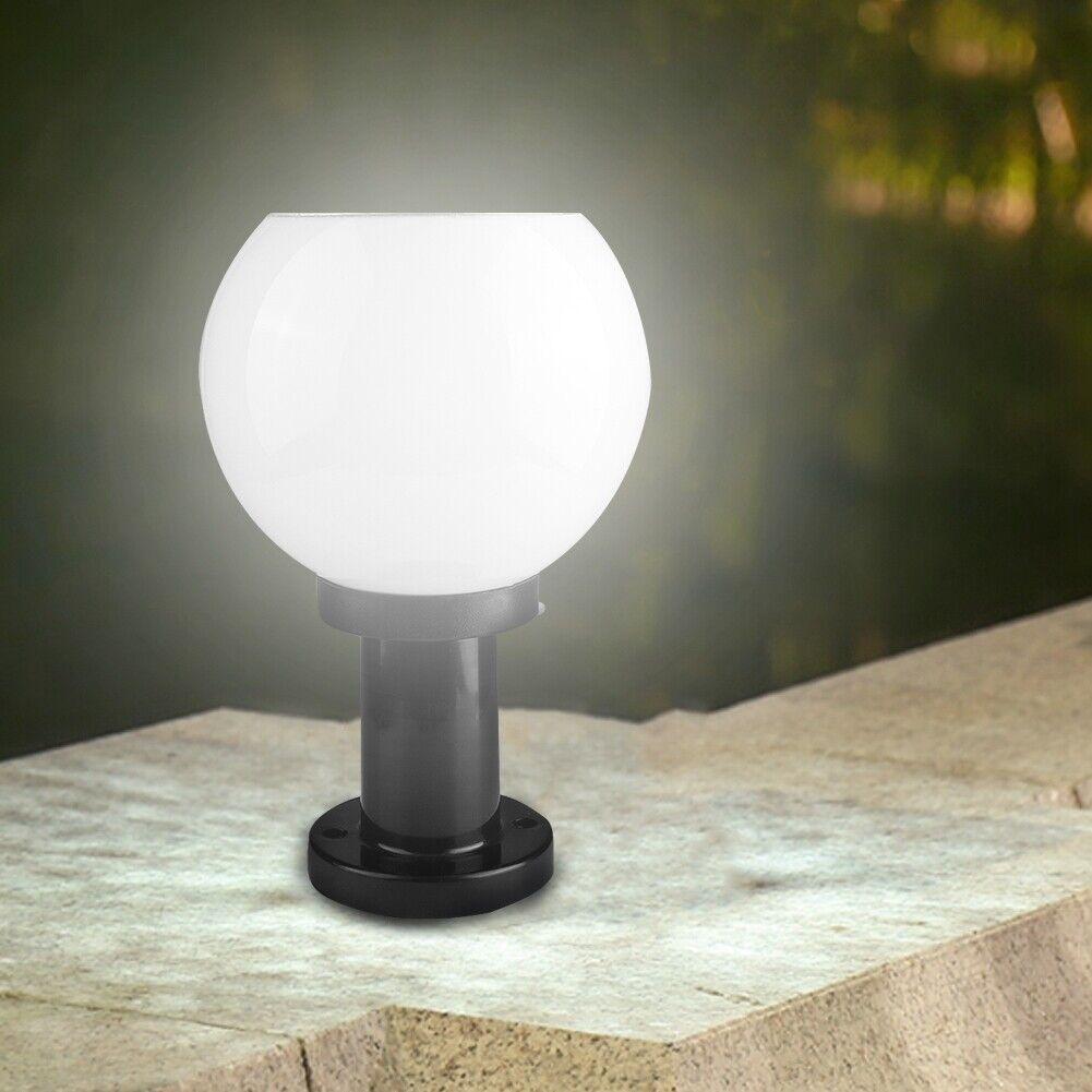 Impulsados LED-muro exterior lámpara Garden Gate pillar Light Bulb + battery