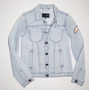 Kvinders Letvægts Up Blue Button Hurley Small Ny Jacket Denim 5EnF6q