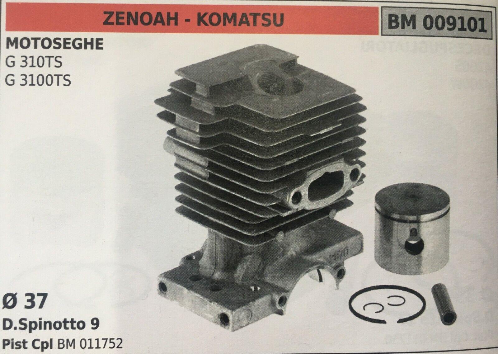 CILINDRO COMPLETO DI PISTONE E SEGMENTI BRUMAR BM009101 ZENOAH - KOMATSU