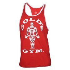 Golds Gym Muscle Joe Contrast Stringer Tank Top  Rot XXL Bodybuilding Tank