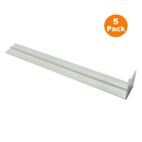5 x PVC Plastique Fascia Board Straight Butt Articulations blanc 300 mm Carré Bord