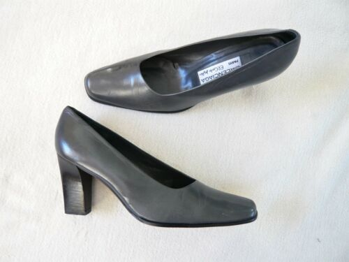 Paris Balenciaga in Heel Block pelle 5 5 grigia solette Court fodera gqHxqdnw6