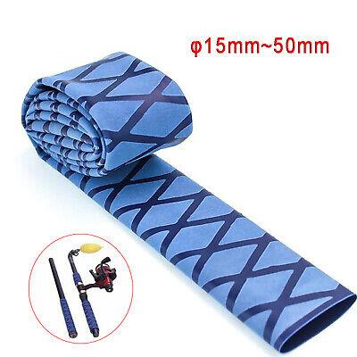 200mm x 30mm BLUE DIAMOND TEXTURED NON SLIP HEAT SHRINK TUBING TEXTURED HEATSHRINK X WRAP SLEEVING HANDLE GRIP TUBE
