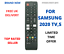 """Replacement For Samsung UE65TU7005K 65/"""" 4K UHD Smart TV Remote Control"""