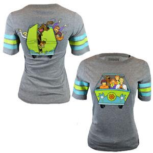 Scooby-Doo-Womens-T-Shirt-Shaggy-Daphne-Velma-Fred-US-Tee-Cotton-S-M-L-XL-NEW