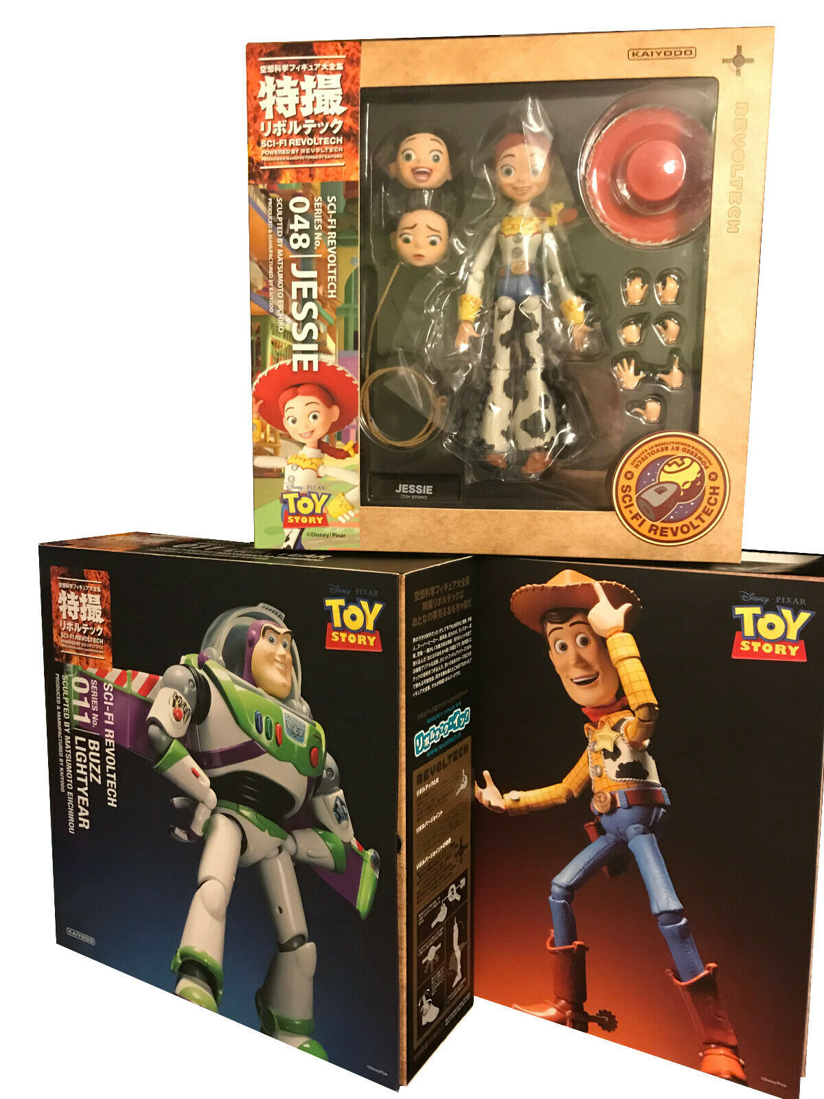 Sci-Fi Revoltech 048 011 010 Toy Story Jessie buzz lightyear Woody Action Figure