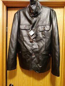 Emporio-EGA-New-Collection-New-Italian-Men-039-s-Black-Jacket-Polyester-sz-L